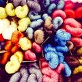 Colorful Silk Threads Display ...