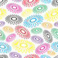 Colorful simple abstract flower seamless light pattern Royalty Free Stock Photo