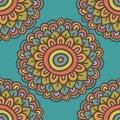 Colorful Simple Doodle Flower ...