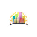 Colorful skyscrapers Royalty Free Stock Photography