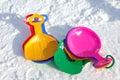 Colorful sledges