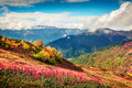 Colorful slopes of the Caucasus Mountains. Royalty Free Stock Photo