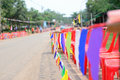 Colorful small flags Royalty Free Stock Photo