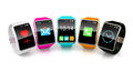 Colorful smart watchs Royalty Free Stock Photo
