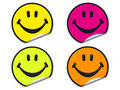 Colorful smiley face stickers Royalty Free Stock Photo