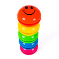 Colorful smileys Royalty Free Stock Photos