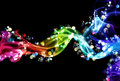 Colorful smoke and lights Royalty Free Stock Photography