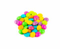 Colorful snack chocolates milk sugar Stock Images