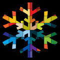Colorful snowflake Stock Image
