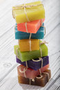 Colorful soap in different colors Royalty Free Stock Photo
