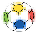 Colorful soccer ball Stock Photo