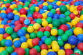 Colorful soft rubber balls ( balls ) for the children's dry pool Royalty Free Stock Photo