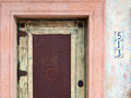 Colorful Southwestern doorway Stock Photos