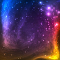 Colorful Space Galaxy Background with Light,