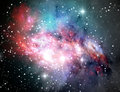 Colorful space nebula Stock Images