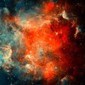 Colorful space nebula Royalty Free Stock Photo