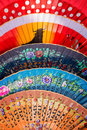 Colorful spanish fans Royalty Free Stock Photo