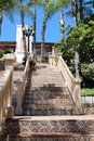 Colorful spanish tile stairs view from the base of the san diego california Royalty Free Stock Images
