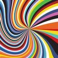 Colorful Spectrum Geometric Abstract Rainbow Wave Stripe Sun Burst Background Royalty Free Stock Photo