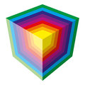 Colorful spectrum vector cube design isolatedon w white background wallpaper Stock Photo