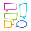 Colorful speech bubble frames bubbles collection of Royalty Free Stock Images