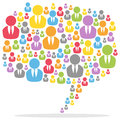 Colorful Speech Bubble People Royalty Free Stock Image