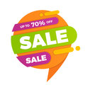 Colorful speech bubble sale design banner price tag sticker badg Royalty Free Stock Photo