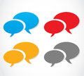 Colorful speech bubble set abstract background Royalty Free Stock Image