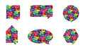 Colorful Speech Bubble Vectors Stock Photos