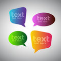 Colorful Speech Bubbles Royalty Free Stock Photography