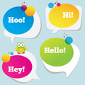 Colorful speech bubbles Stock Images