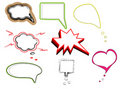 Colorful speech bubbles and dialog balloons vector Royalty Free Stock Photo