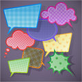 Colorful speech bubbles round and square Stock Photos