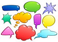 Colorful speech bubbles set Royalty Free Stock Photos
