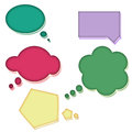 Colorful speech bubbles set of five on white background Royalty Free Stock Image