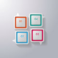 Colorful speech bubbles window four on the grey background eps file Stock Photography