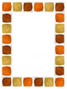Colorful spices food page border Royalty Free Stock Photo
