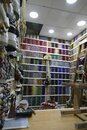 Colorful spindles of thread in Fes Royalty Free Stock Photo
