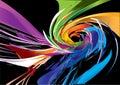 Farbistý špirála dizajn