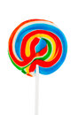 Colorful spiral lollipop isolated on white background Stock Image