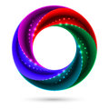 Colorful spiral ring illustration on white background for design Stock Photos