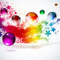 Colorful splash background Royalty Free Stock Photo