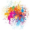 Colorful splash background Royalty Free Stock Photo