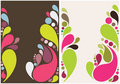 Colorful splash drops background design Royalty Free Stock Photo