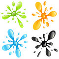 Colorful splash set Royalty Free Stock Images