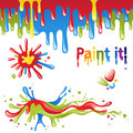 Colorful splashes set of paint Royalty Free Stock Photography