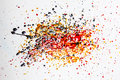 Colorful splatter Royalty Free Stock Image