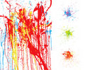 Colorful splatter backgrounds Stock Images