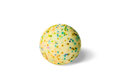 Colorful sponge ball dimensional depth multicolored with shadow Royalty Free Stock Images