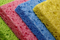 Colorful sponges leaning Royalty Free Stock Photography